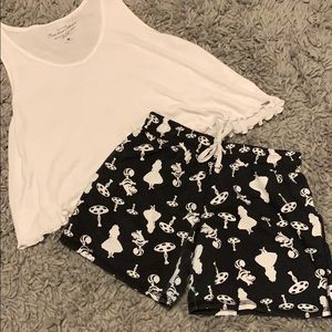 Tank and Alice in Wonderland Shorts